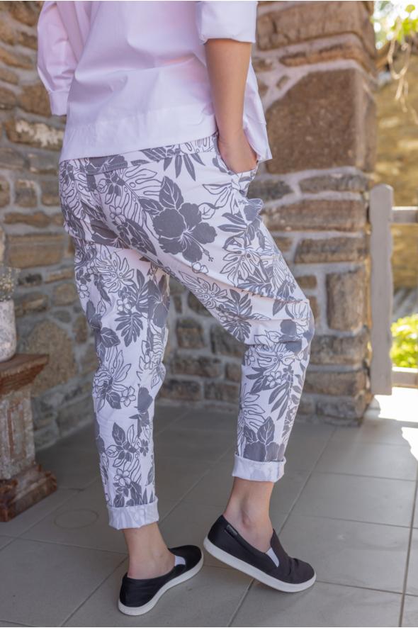 Virágos sztreccs nadrág
